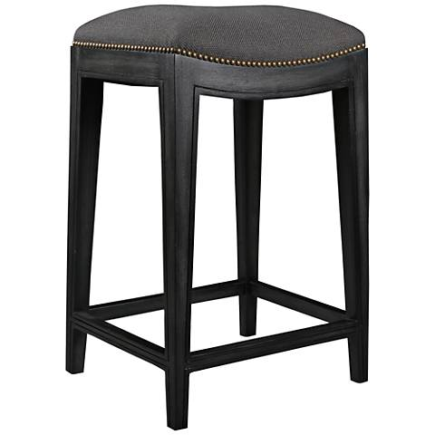 "Sonoma 26"" Charcoal Linen Counter Stool"