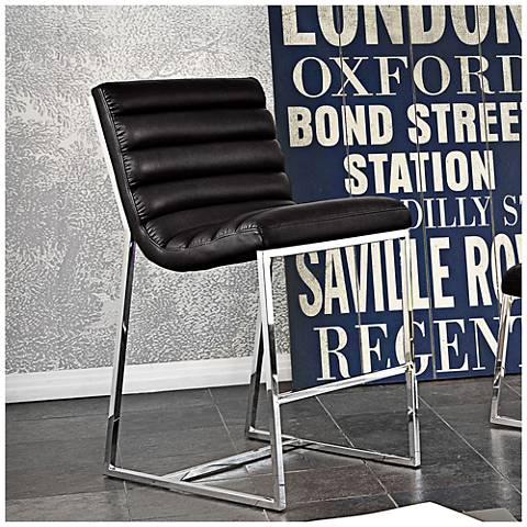 "Bardot 29"" Black Bonded Leather Counter Chair"