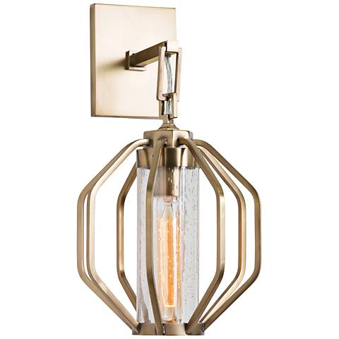 """Windsor Smith 16 1/2"""" High Antique Brass Sconce"""