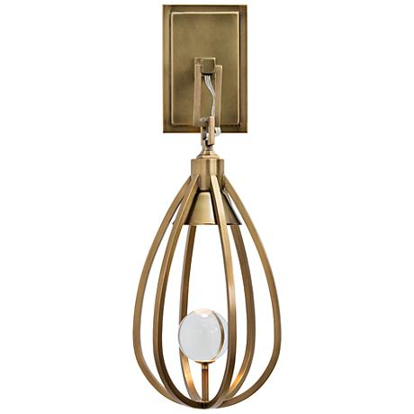 """Windsor Smith 18 1/2"""" High Antique Brass Sconce"""