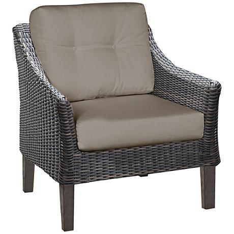 San Marino Brown Weave and Cast Ash Outdoor Accent Chair