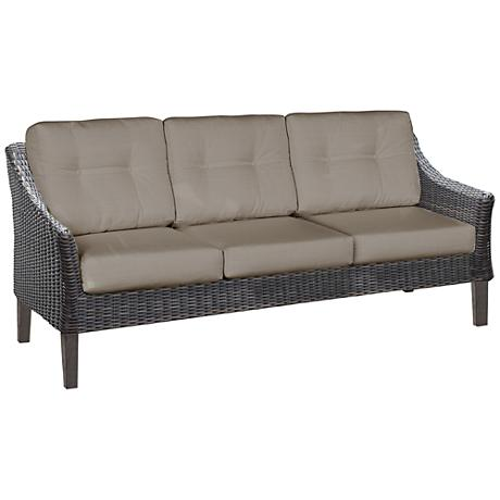 San Marino Brown Weave and Cast Ash Outdoor Sofa