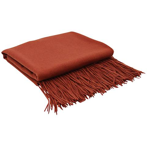 Marsala Signature Cashmere Blend Throw Blanket