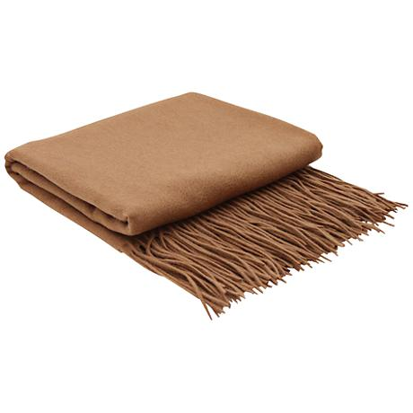Cinnamon Signature Cashmere Blend Throw Blanket