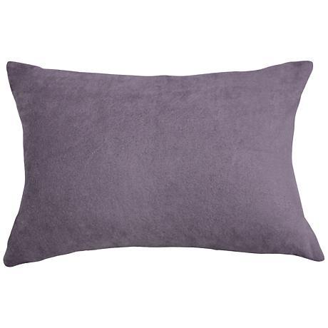 "Steel Gray Bamboo Velvet 14""x20"" Lumbar Throw Pillow"