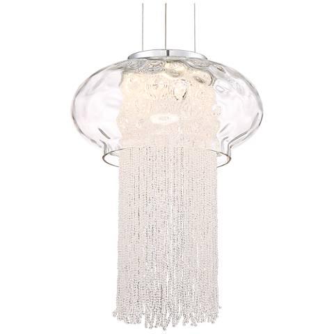 """Possini Euro Aurelia 11 1/2"""" Wide Glass LED Mini Pendant"""