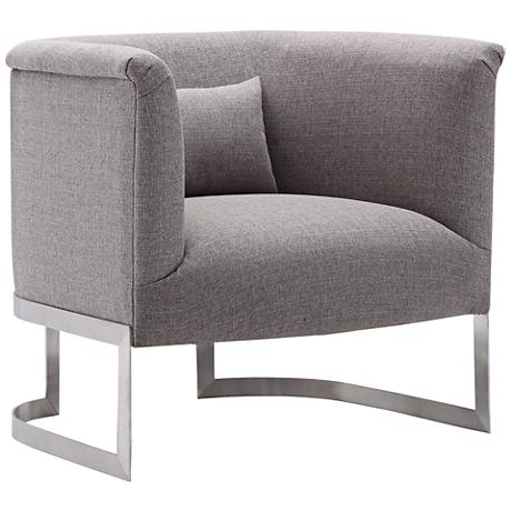 Elite Gray Fabric Accent Chair