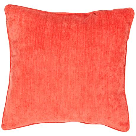 "Jaipur Veranda Tigerlily Red 20"" Square Throw Pillow"