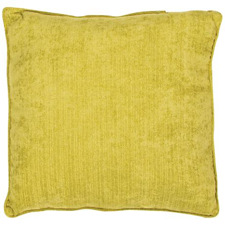 "Jaipur Veranda Antique Moss Yellow 20""W Throw Pillow"
