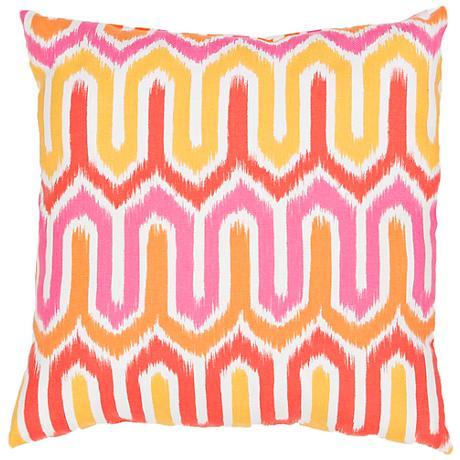 "Jaipur Veranda Pink Wave 20"" Square Throw Pillow"