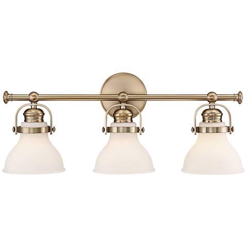 """Olsen 24 1/4"""" Wide 3-Light French Gold Bath Light"""