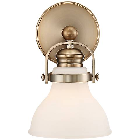 "Olsen 10"" High French Gold Wall Sconce"