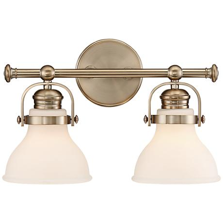 "Olsen 10"" High 2-Light French Gold Wall Sconce"
