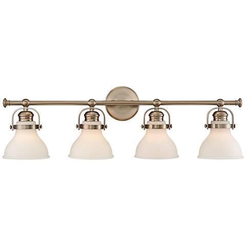 """Olsen 33"""" Wide 4-Light French Gold Bath Light"""