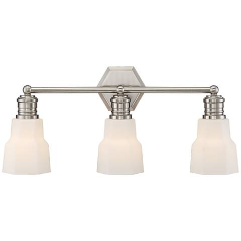 "Possini Euro Rory 23 3/4""W Satin Nickel 3-Light Bath Light"