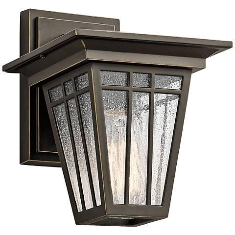 "Kichler Woodhollow 9 1/2"" High Bronze Outdoor Wall Light"