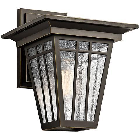 "Kichler Woodhollow 13"" High Bronze Outdoor Wall Light"