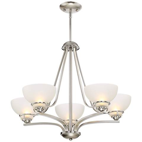 "Calpella 24 3/4"" Wide Brushed Nickel 5-Light Chandelier"