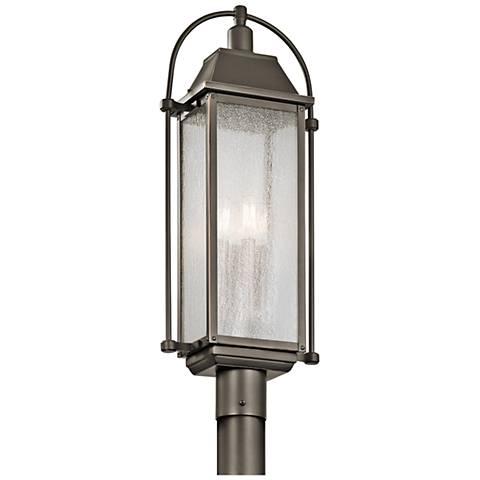 """Kichler Harbor Row 27 1/4"""" High Bronze Outdoor Post Light"""