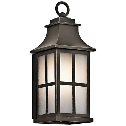"Kichler Pallerton Way 14 1/4""H Bronze Outdoor Wall Light"