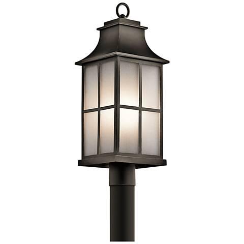 """Kichler Pallerton Way 23""""H Olde Bronze Outdoor Post Light"""