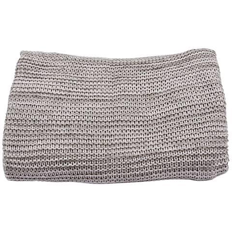 Jaipur Gem Pale Gray Acrylic Throw Blanket
