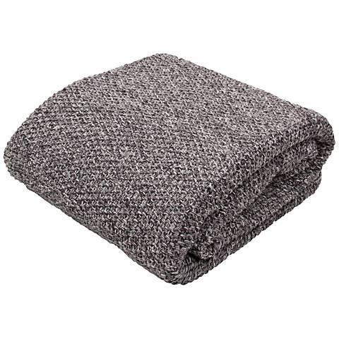 Jaipur Parade Dark Gray Cotton Throw Blanket