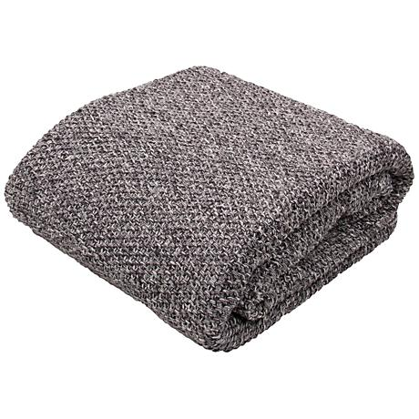 jaipur parade dark gray cotton throw blanket 9h871 lamps plus. Black Bedroom Furniture Sets. Home Design Ideas