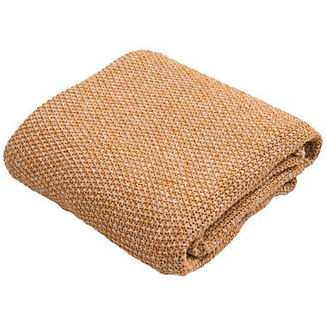 Jaipur Parade Golden Yellow Cotton Throw Blanket