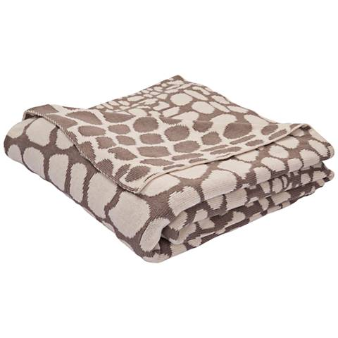 Jaipur National Geographic Taupe and Ivory Throw Blanket