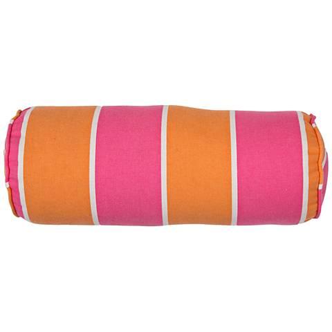 "Jaipur Veranda Orange-Pink 20""x7"" Outdoor Pillow"