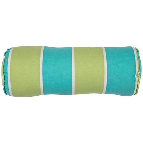 "Jaipur Veranda Green-Blue 20""x7"" Indoor-Outdoor Pillow"