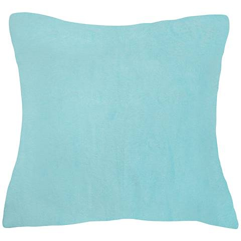 "Aqua Blue Bamboo Velvet 24"" Square Throw Pillow"