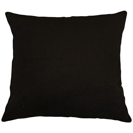 """Black Bamboo Velvet 24"""" Square Throw Pillow"""