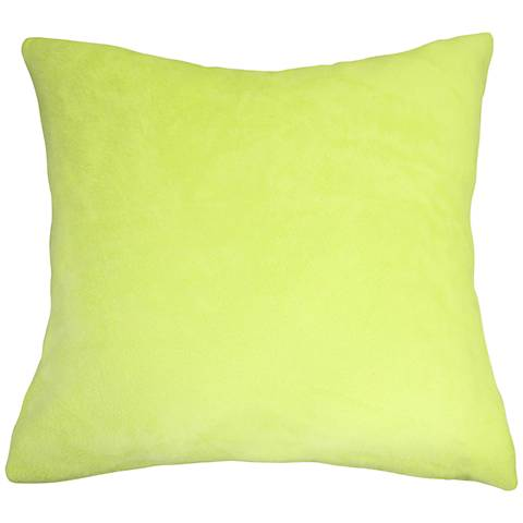 "Chartreuse Bamboo Velvet 24"" Square Throw Pillow"