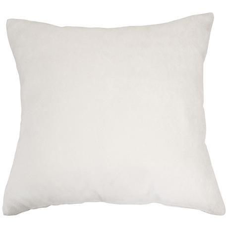 "Dove Gray Bamboo Velvet 24"" Square Throw Pillow"