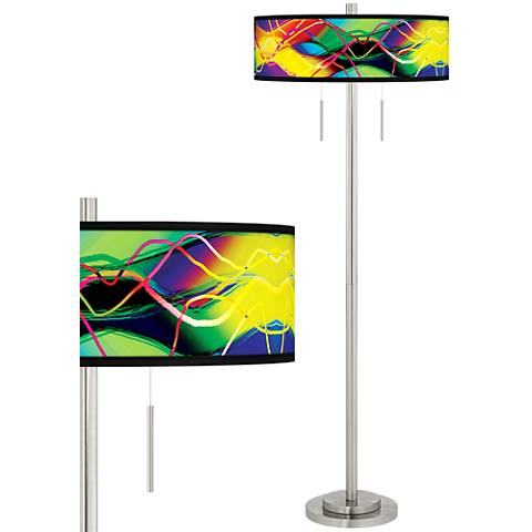 Colors in Motion (Light) Taft Giclee Brushed Nickel Floor Lamp
