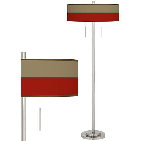 Empire Red Taft Giclee Brushed Nickel Floor Lamp