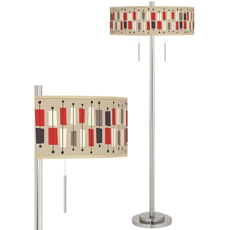 Bounce Taft Giclee Brushed Nickel Floor Lamp