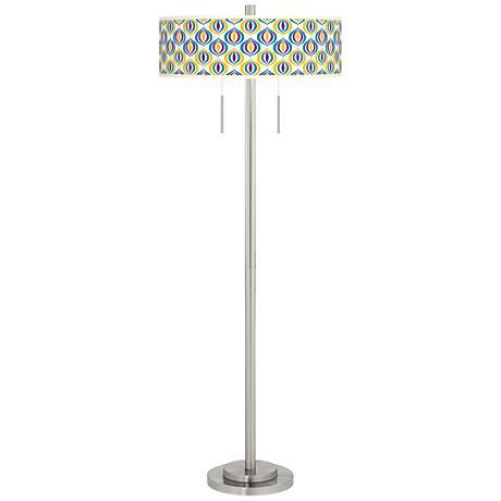 Scatter Taft Giclee Brushed Nickel Floor Lamp