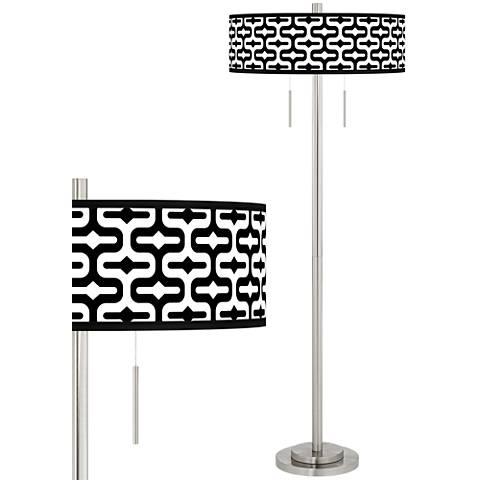 Reflection Taft Giclee Brushed Nickel Floor Lamp