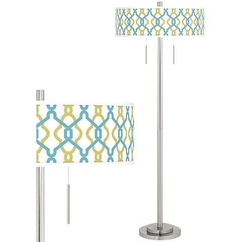 Hyper Links Taft Giclee Brushed Nickel Floor Lamp