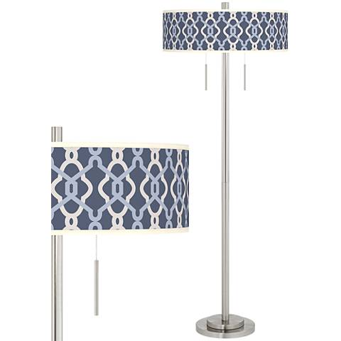 Hyper Links Vista Taft Giclee Brushed Nickel Floor Lamp