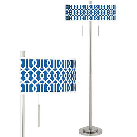Chain Reaction Taft Giclee Brushed Nickel Floor Lamp