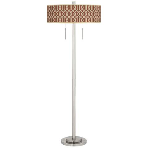 Sand Chain Reaction Taft Giclee Brushed Nickel Floor Lamp