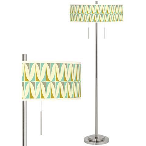 Vernaculis I Taft Giclee Brushed Nickel Floor Lamp