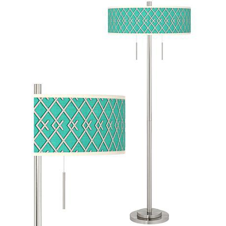Crossings Taft Giclee Brushed Nickel Floor Lamp