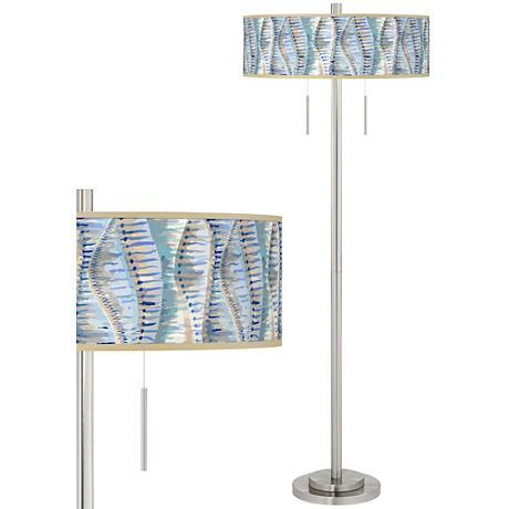 Siren Taft Giclee Brushed Nickel Floor Lamp