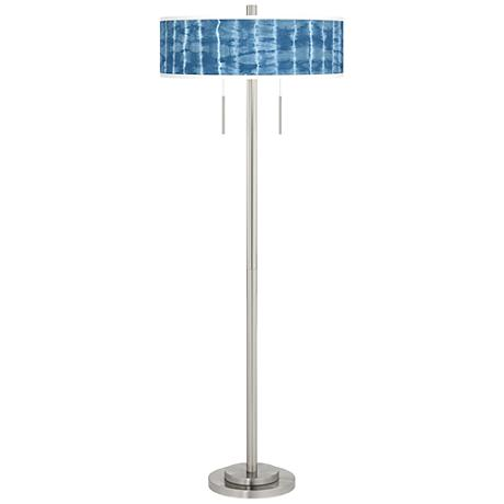 Cool Reflections Taft Giclee Brushed Nickel Floor Lamp
