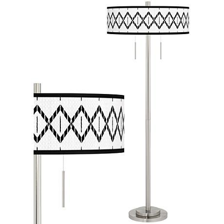 Paved Desert Taft Giclee Brushed Nickel Floor Lamp